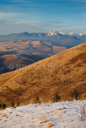 A view from Mount Sentinel above Missoula, Montana looking north toward Snowbowl ski area