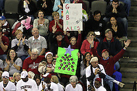 Omaha, NE - DECEMBER 20:  Fans of the Stanford Cardinal during Stanford's 20-25, 24-26, 23-25 loss against the Penn State Nittany Lions in the 2008 NCAA Division I Women's Volleyball Final Four Championship match on December 20, 2008 at the Qwest Center in Omaha, Nebraska.