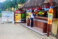 Roadside Refreshment Stand near Sian Ka'an Biosphere Reserve, Riviera Maya, Yucatan, Mexico.