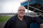 Ramsbottom United 1 Barwell 3, 03/10/2015. Riverside Stadium, Northern Premier League. The home club's vice-chairman Chris Woolfall, pictured at the Harry Williams Riverside Stadium, home to Ramsbottom United as they played Barwell in a Northern Premier League premier division match. This was the club's 13th league game of the season and they were still to record their first victory following a 3-1 defeat, watched by a crowd of 176. Rams bottom United were formed by Harry Williams, the current chairman, in 1966 and progressed from local amateur football  in Bury to the semi-professional leagues. Photo by Colin McPherson.