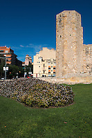 Old Roman monk tower site in Tarragona, Spain