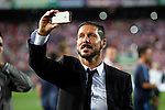 Simeone will be coach from Atletico Madrid until 2020, in the pic: Atletico de Madrid¥s Diego Pablo `Cholo¥Simeone after winning the 2014 Supercopa de EspaÒa `Spain Supercup¥  at Vicente Calderon stadium. August 22, 2014. (ALTERPHOTOS/Victor Blanco)