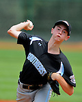 16 August 10: Brandon Reitz pitches during a 3.1 inning, 3-hit outing as part of a 10-0 win for Ocala against Mineral Area, Missouri in the Cal Ripken Babe Ruth World Series 12U Majors in Aberdeen, Maryland
