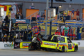 NASCAR Camping World Truck Series<br /> M&M's 200 presented by Casey's General Store<br /> Iowa Speedway, Newton, IA USA<br /> Friday 23 June 2017<br /> Matt Crafton, Fisher Nuts/Menards Toyota Tundra pit stop<br /> World Copyright: Russell LaBounty<br /> LAT Images