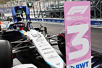 25th September 2021; Sochi, Russia; F1 Grand Prix of Russia  qualifying sessions;  F1 Grand Prix of Russia 63 George Russell GBR, Williams Racing 3rd on pole