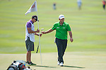 Patrick Reed from USA gives his club back to the caddie during Hong Kong Open golf tournament at the Fanling golf course on 22 October 2015 in Hong Kong, China. Photo by Xaume Olleros / Power Sport Images