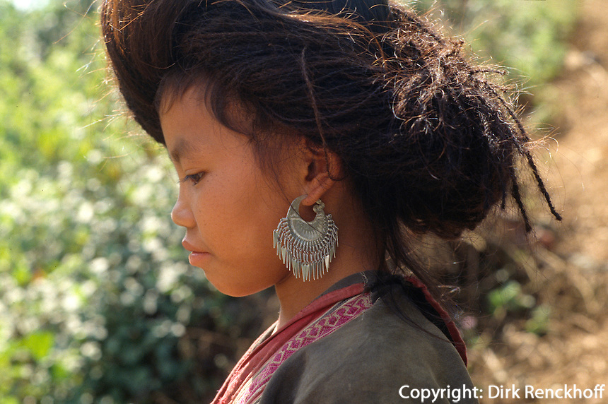Meo (= H'Mong) -Minderheit in der Lai Chau-Provinz, Vietnam