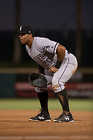 AZL White Sox first baseman Harvin Mendoza (20) during an Arizona League game against the AZL Indians 1 at Goodyear Ballpark on June 20, 2018 in Goodyear, Arizona. AZL Indians 1 defeated AZL White Sox 8-7. (Zachary Lucy/Four Seam Images)