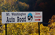 Mount Washington Auto Road in Green's Grant, New Hampshire USA during the autumn months.