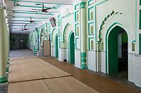 India, Dehradun.  Interior of Mosque in Central Dehradun.