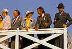 People watching Polo at the Guards Polo Club Smiths Lawn 1980s UK