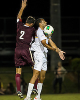 The Winthrop University Eagles played the College of Charleston Cougars at Eagles Field in Rock Hill, SC.  College of Charleston broke the 1-1 tie with a goal in the 88th minute to win 2-1.  Achille Obougou (7), Tam McGowan (2)