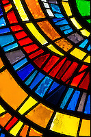 Stained glass detail.