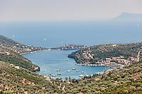 The village Syvota in Lefkada, Greece