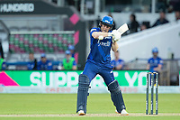 Eoin Morgan, London Spirit guides a short delivery to third man during London Spirit Men vs Trent Rockets Men, The Hundred Cricket at Lord's Cricket Ground on 29th July 2021