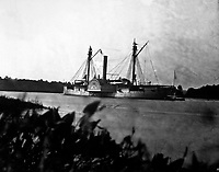 Gunboat Mendota on James River, August 1864.  Mathew Brady Collection.  (Army)<br /> Exact Date Shot Unknown<br /> NARA FILE #:  111-B-296<br /> WAR & CONFLICT BOOK #:  191