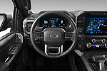 Car pictures of steering wheel view of a 2021 Ford F-150 Platinum 4 Door Pick-up Steering Wheel