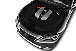 Car stock 2018 Lexus LS President 4wd 4 Door Sedan engine high angle detail view