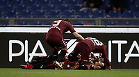Calcio, Serie A: Roma, stadio Olimpico, 11 dicembre 2017.<br /> Torino's Alejandro Berenguer (r) celebrates after scoring with his teammates during the Italian Serie A football match between Lazio and Torino at Rome's Olympic stadium, December 11, 2017.<br /> UPDATE IMAGES PRESS/Isabella Bonotto