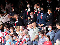14th September 2021; Sevilla, Spain: UEFA Champions League football, Sevilla FC versus RB Salzburg; Sevilla fans in stands show their support