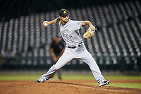 Salt River Rafters pitcher Tayler Scott (56), of the Milwaukee Brewers organization, during a game against the Mesa Solar Sox on October 22, 2016 at Sloan Park in Mesa, Arizona.  Salt River defeated Mesa 7-2.  (Mike Janes/Four Seam Images)