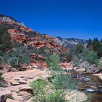 Oak Creek Canyon near Sedona, Arizona, USA - Slide Rock in Slide Rock State Park