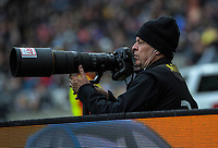 Photosport photographer Andrew Cornaga shoots the Bledisloe Cup rugby union match between the New Zealand All Blacks and Australia Wallabies at Sky Stadium in Wellington, New Zealand on Sunday, 11 October 2020. Photo: Dave Lintott / lintottphoto.co.nz