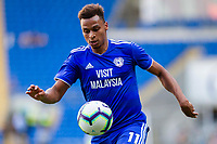 Josh Murphy of Cardiff City during the 2018/19 Pre Season Friendly match between Cardiff City and Real Betis at the Cardiff City Stadium, Cardiff, Wales on 4 August 2018. Photo by Mark Hawkins.
