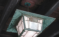 Greene & Greene: Gamble House, porch lamp.  Photo '85.
