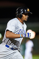 Mesa Solar Sox third baseman Jeimer Candelario (6) runs the bases after hitting a home run during an Arizona Fall League game against the Scottsdale Scorpions on October 20, 2015 at Scottsdale Stadium in Scottsdale, Arizona.  Mesa defeated Scottsdale 5-4.  (Mike Janes/Four Seam Images)