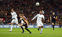 Pictured: (L-R) Stephen Darby, Wayne Routledge. Sunday 24 February 2013<br /> Re: Capital One Cup football final, Swansea v Bradford at the Wembley Stadium in London.