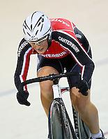 Canterbury's Liz Steel at the BikeNZ Elite & U19 Track National Championships, Avantidrome, Home of Cycling, Cambridge, New Zealand, Sunday, March 16, 2014. Credit: Dianne Manson