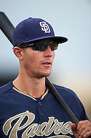 San Diego Padres coach Michael Collins during practice before an instructional league game against the Milwaukee Brewers on October 6, 2015 at the Peoria Sports Complex in Peoria, Arizona.  (Mike Janes/Four Seam Images)