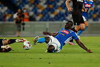 Kalidou Koulibaly of Napoli   during the  italian serie a soccer match,  SSC Napoli - AC Milan       at  the San  Paolo   stadium in Naples  Italy , July 12, 2020
