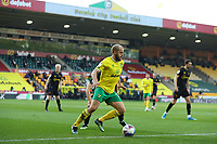 20th April 2021; Carrow Road, Norwich, Norfolk, England, English Football League Championship Football, Norwich versus Watford; Teemu Pukki of Norwich City looks to play the ball back to a team mate