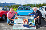 The late Elaine Clifford husband Padraig Clifford left and her father Dan Harrington launching the Remembering Elaine Car Run which will be held in Kilgarvan on Sunday 10th October in Killarney on Sunday