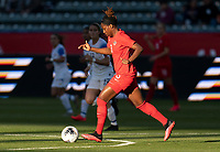 CARSON, CA - FEBRUARY 07: Kadeisha Buchanan #3 of Canada dribbles during a game between Canada and Costa Rica at Dignity Health Sports Park on February 07, 2020 in Carson, California.