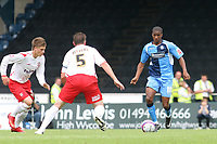 Gavin Grant of Wycombe Wanderers, former Gillingham and Millwall player, in action during Wycombe Wanderers vs Lincoln City, Coca Cola League Division Two Football at Adams Park on 23rd August 2008
