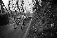 53rd Brabantse Pijl 2013..peloton up the Hagaard