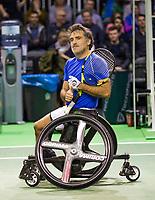 Rotterdam, The Netherlands, 14 Februari 2019, ABNAMRO World Tennis Tournament, Ahoy, Wheelchair, Final, Stephane Houdet (FRA),<br /> Photo: www.tennisimages.com/Henk Koster