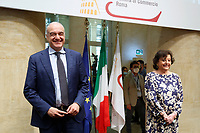 Enrico Michetti, candidate Mayor of Rome and Simonetta Matone, candidate vice mayor of Rome, during the presentation of the candidates at the next elections for the mayor of Rome for the center-right coalition.<br /> Rome (Italy), June 11th 2021<br /> Photo Samantha Zucchi Insidefoto