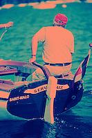 Europe/France/Bretagne/35/Ille-et-Vilaine/Env de Saint-Malo: Lors de la fète des Doris (Vieux canots des Terres- Neuvas) sur la Rance