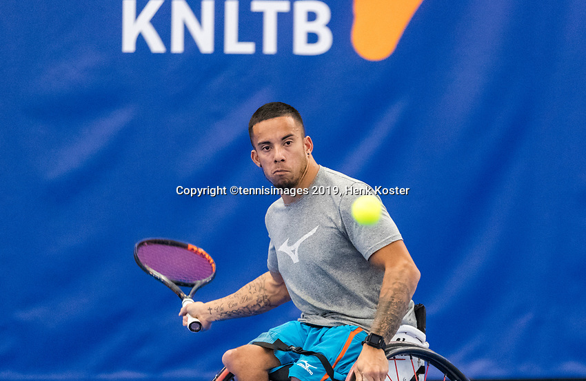 Amstelveen, Netherlands, 8  December, 2020, National Tennis Center, NTC, NKR, National  Indoor Wheelchair Tennis Championships, Men's single:   Carlos Anker (NED)<br /> Photo: Henk Koster/tennisimages.com