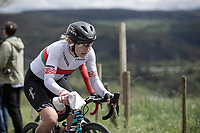 Elena Amialiusik (BLR/Canyon Sram Racing) up the Col de La Redoute.<br /> <br /> 3th Liège-Bastogne-Liège-Femmes 2019 (1.WWT)<br /> 1 Day Race: Bastogne – Liège 138,5km<br /> <br /> ©kramon