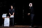 LE DERNIER TESTAMENT DE MELANIE LAURENTD'après Le Dernier Testament de Ben Zion Avrohom de James FreyAdaptation Mélanie Laurent et Charlotte FarcetMise en scène Mélanie LaurentAssistante à la mise en scène Amélie WendlingDramaturgie Charlotte FarcetScénographie Marc Lainé et Stephan ZimmerliCréation Lumières Philippe BerthoméChorégraphie Arthur PeroleMusiques Marc Chouarain en collaboration avec Mélanie LaurentCostumes Béatrice RionMaquillage et coiffure Heidi BaumbergerVidéo Renaud VerceyRéalisation et régie son Maxime ImbertAccessoires Lionel ScreveRégie générale Karl GobynRégie lumière Pauline MouchelArrangement choeur Jérôme BillyTraduction anglaise et régie surtitre Mike SensÉquipe de tournage Alexandre Leglise (Chef opérateur), Raphaël Dougé (Assistant caméra), Antoine Roux (Chef électro), Grégory Loffredo (Cascadeur)Avec : Gaël Kamilindi, Morgan PerezCréation au Théâtre du Gymnase le 20 septembre 2016Compagnie : Cadre : Date : 25/01/2017Lieu : Théâtre de ChaillotVille : Paris© Laurent Paillier / photosdedanse.com
