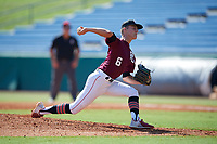 Roman Kimball (6) of P27 Academy in New Hartford, NY during the Perfect Game National Showcase at Hoover Metropolitan Stadium on June 19, 2020 in Hoover, Alabama. (Mike Janes/Four Seam Images)