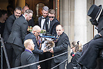 © Joel Goodman - 07973 332324 . 30/06/2017 . Stockport , UK . Martyn's coffin is carried away from the Town Hall after the service . The funeral of Martyn Hett at Stockport Town Hall . Martyn Hett was 29 years old when he was one of 22 people killed on 22 May 2017 in a murderous terrorist bombing committed by Salman Abedi, after an Ariana Grande concert at the Manchester Arena . Photo credit : Joel Goodman