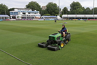 The outfield is prepared ahead of Essex CCC vs Yorkshire CCC, Specsavers County Championship Division 1 Cricket at The Cloudfm County Ground on 7th July 2019