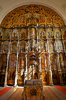 Interior and icons of St Nicholas Greek Orthodox Church, Eger, Hungary