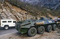 - NATO intervention in Bosnia and Herzegovina, Ukrainian army checkpoint on the road from Mostar to Sarajevo (March 1998)<br /> <br /> - Intervento NATO in Bosnia Herzegovina, checkpoint dell'esercito Ukraino sulla strada da Mostar a Sarajevo ( marzo1998)